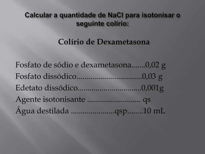 Calcular a quantidade de
