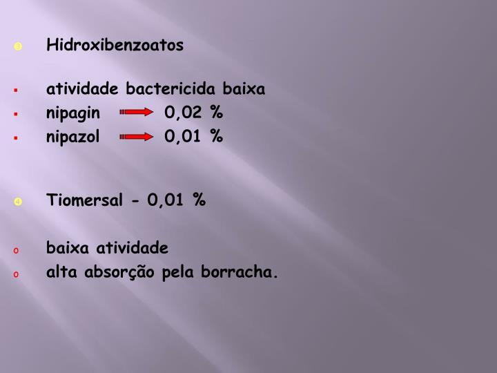 Hidroxibenzoatos