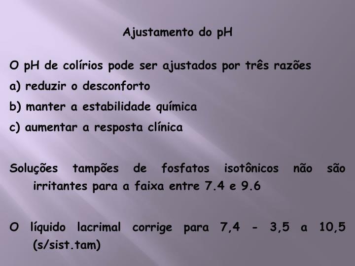 Ajustamento do pH