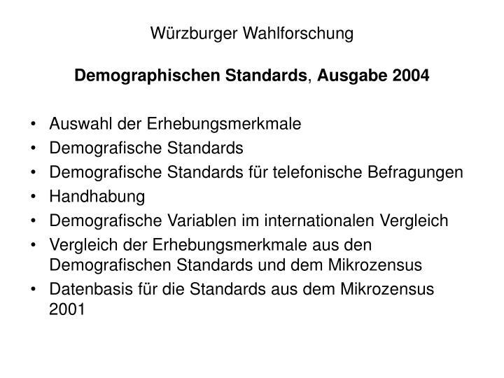 Würzburger Wahlforschung