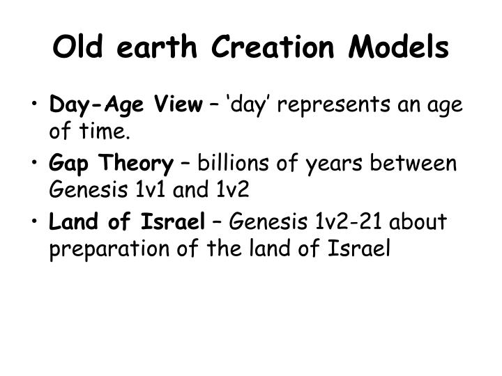 Old earth Creation Models
