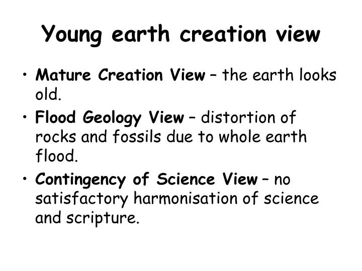 Young earth creation view