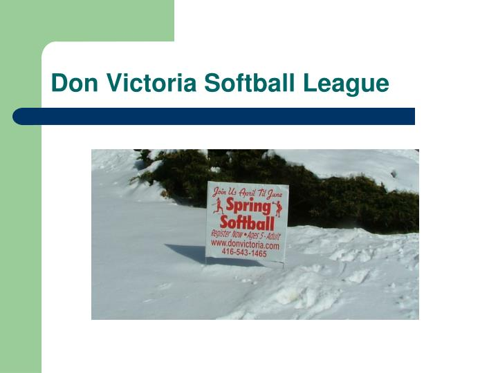 don victoria softball league n.