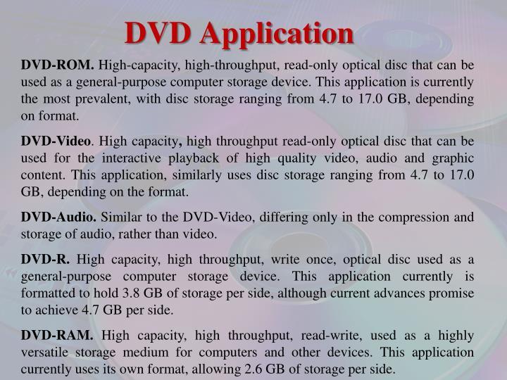 DVD Application