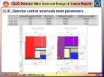 clic detector central solenoids main parameters