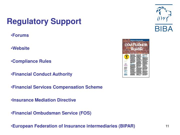 Regulatory Support