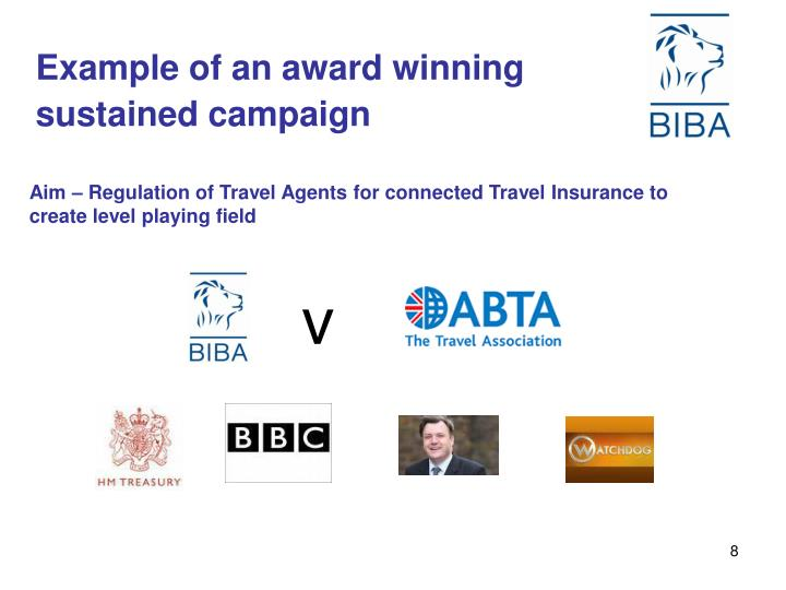 Example of an award winning sustained campaign
