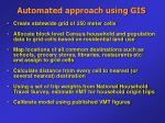 automated approach using gis