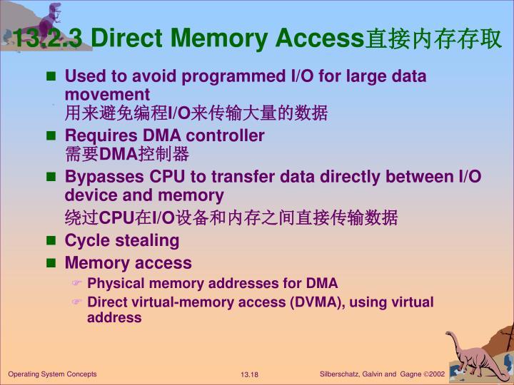 13.2.3 Direct Memory Access