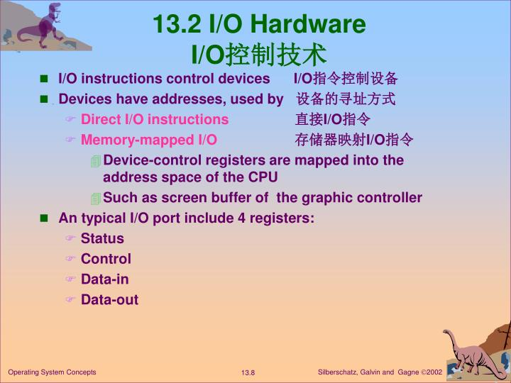 13.2 I/O Hardware