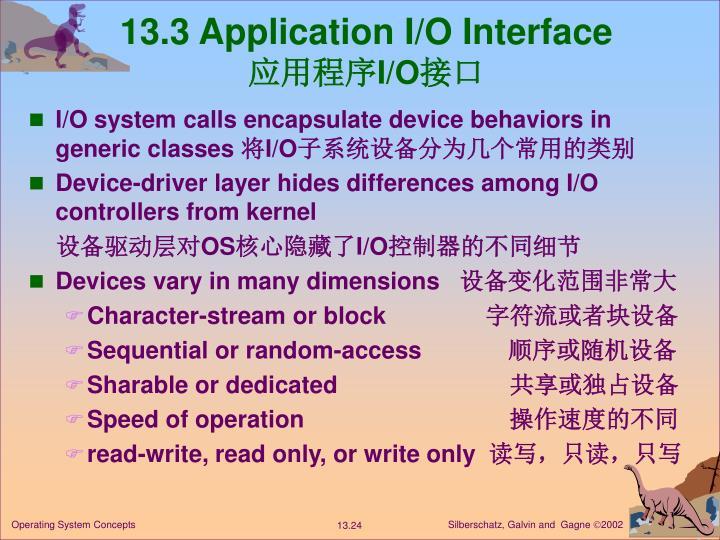 13.3 Application I/O Interface