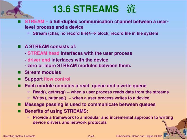 13.6 STREAMS