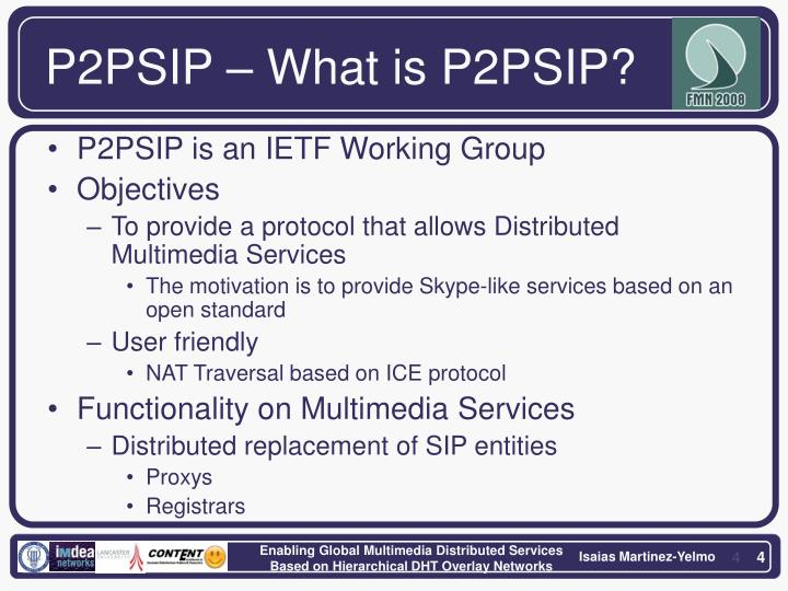 P2PSIP – What is P2PSIP?