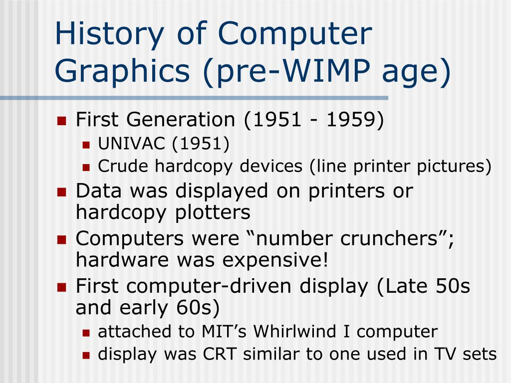 PPT - History of Computer Graphics PowerPoint Presentation