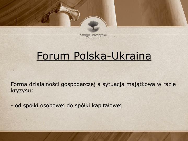 Forum polska ukraina2