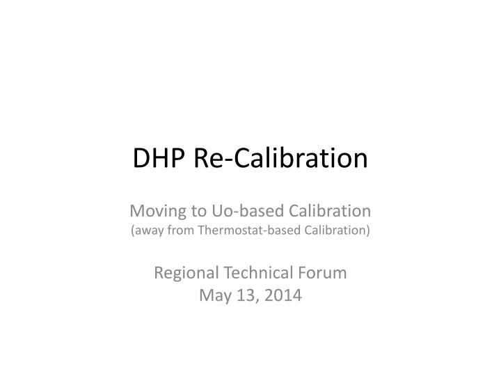 dhp re calibration n.