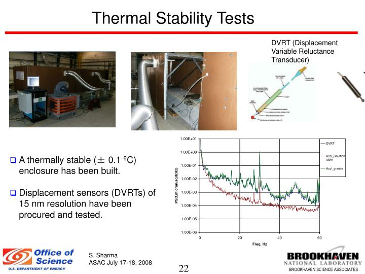 Thermal Stability Tests