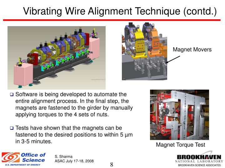 Vibrating Wire Alignment Technique (contd.)