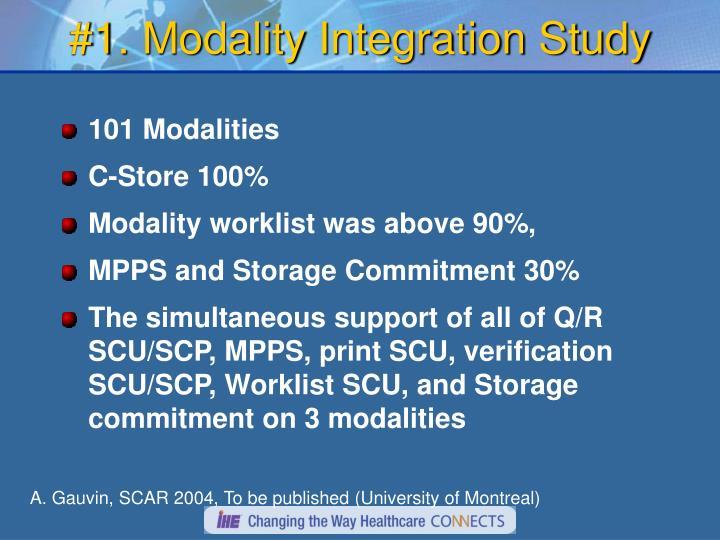 #1. Modality Integration Study