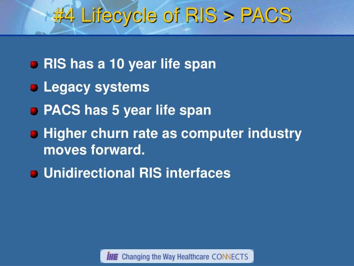 #4 Lifecycle of RIS > PACS