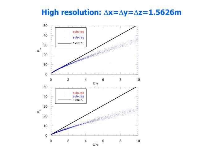 High resolution: