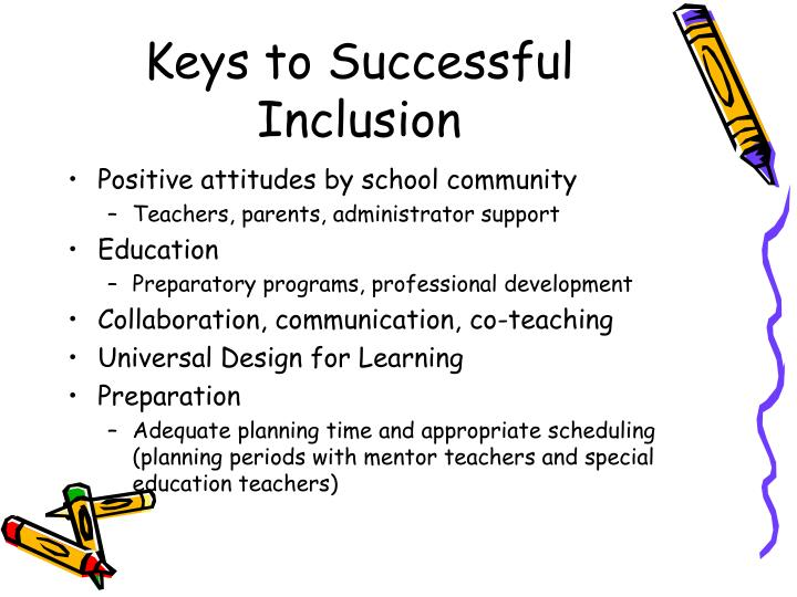 Keys to Successful Inclusion