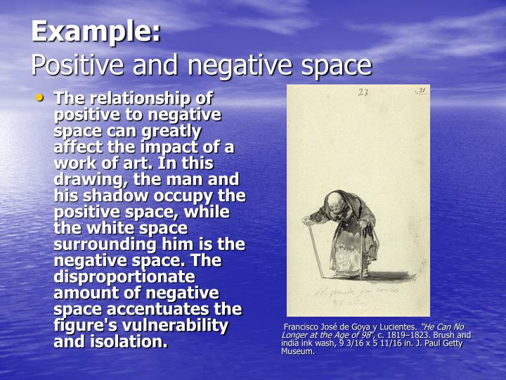 Example positive and negative space