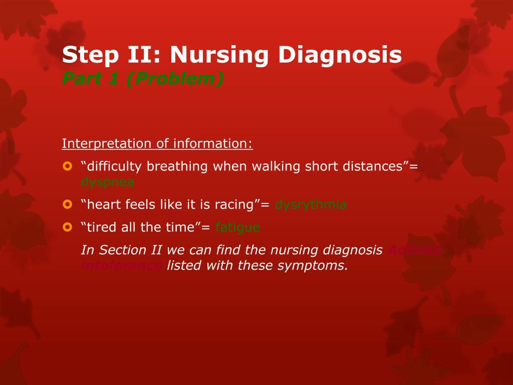 PPT - Nursing Process PowerPoint Presentation - ID:4055856