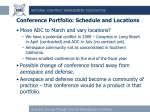 conference portfolio schedule and locations1
