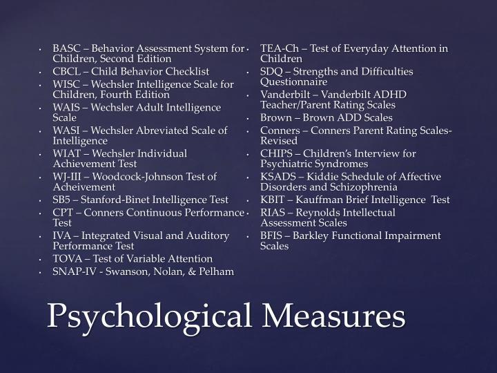 BASC – Behavior Assessment System for Children, Second Edition