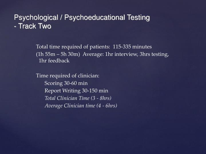 Psychological /