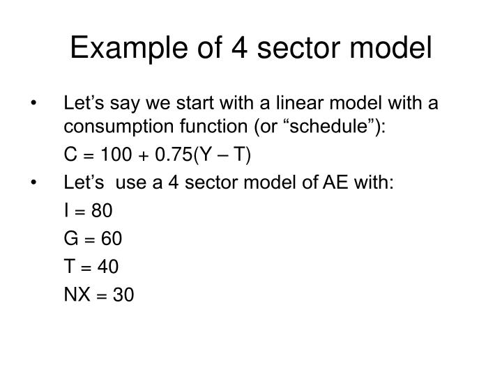 example of 4 sector model n.