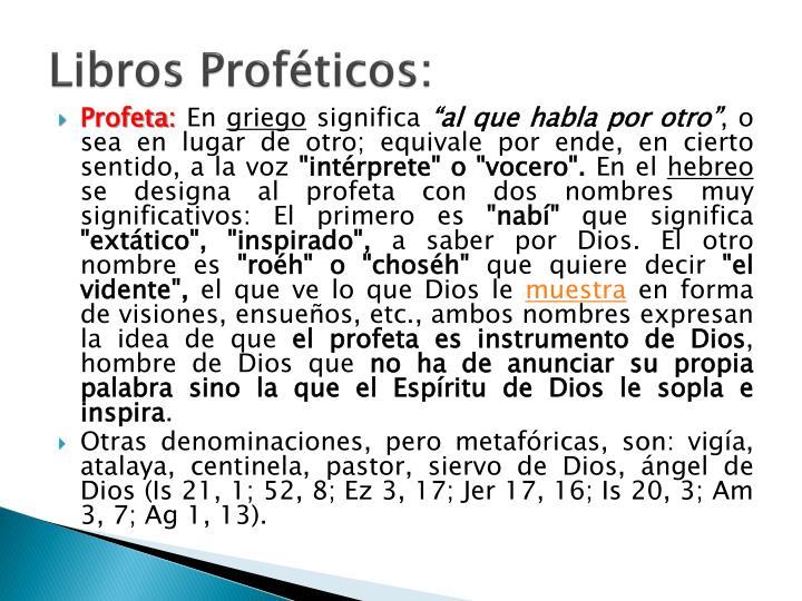 Libros Proféticos: