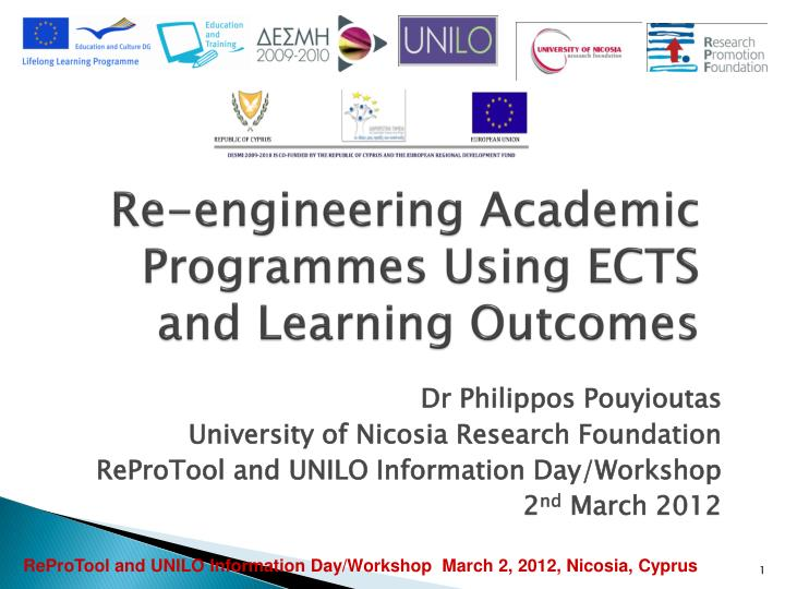Re engineering academic programmes using ects and learning outcomes