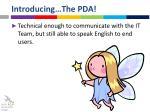 introducing the pda