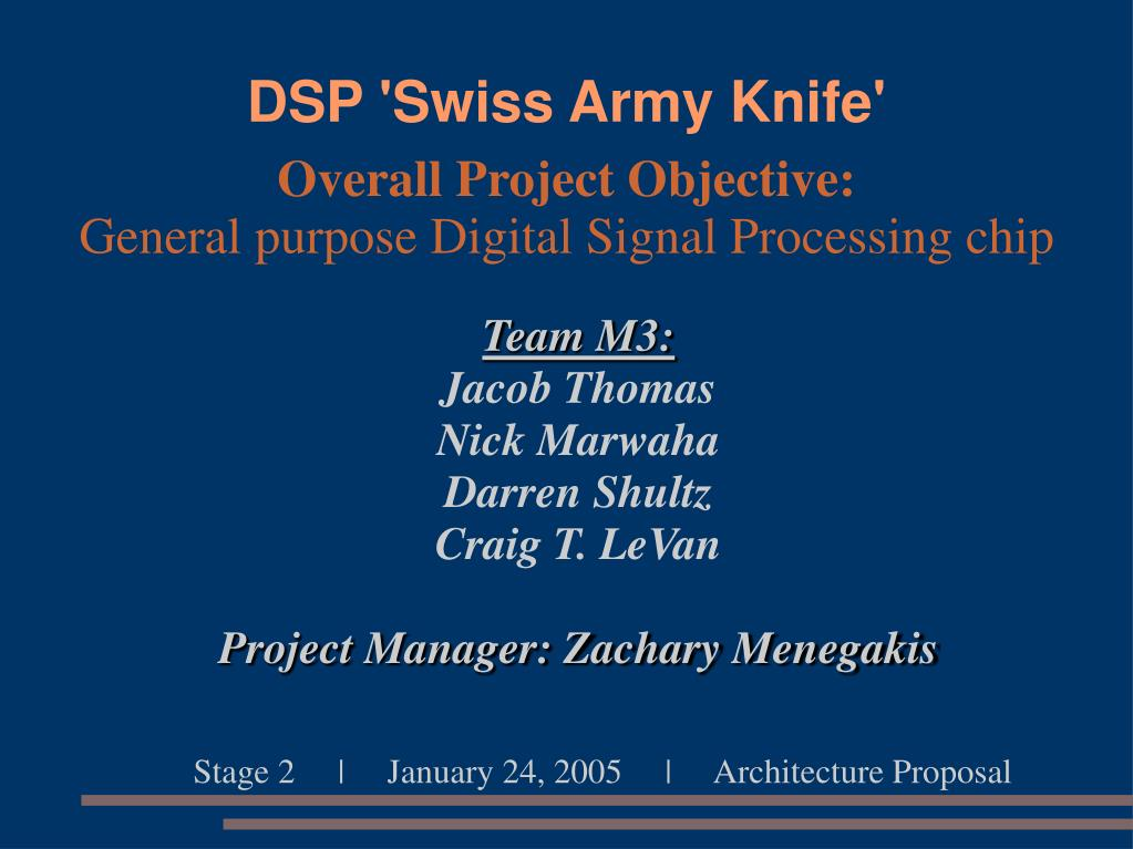 Ppt Dsp Swiss Army Knife Powerpoint Presentation Id