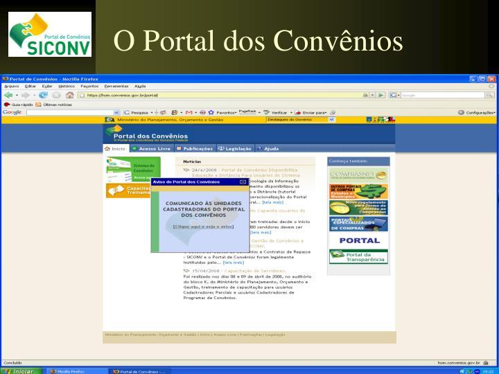 O Portal dos Convênios