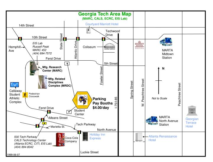 Georgia Tech Area Map