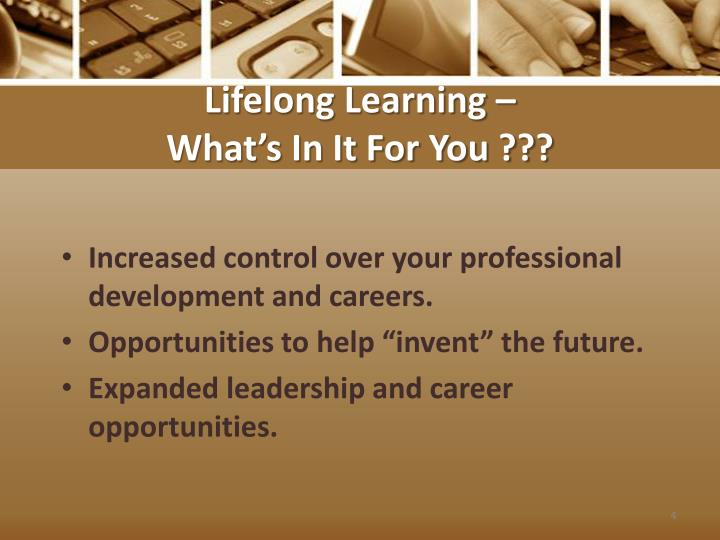 lifelong learning professional development Learn a new skill or hobby, enhance your knowledge and confidence or improve your health and well-being with our tailored professional development, lifelong learning and short courses.