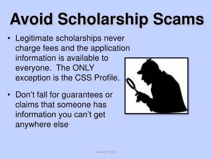 Avoid Scholarship Scams