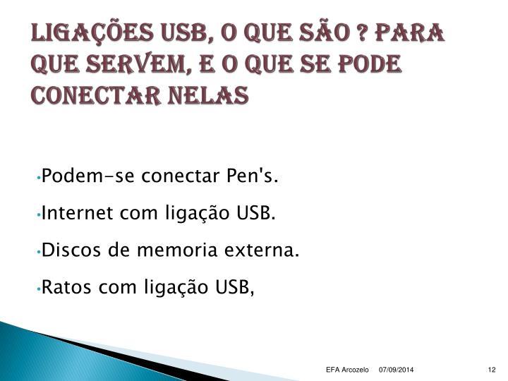 Ligações USB, o que são ? para que servem, e o que se pode conectar nelas