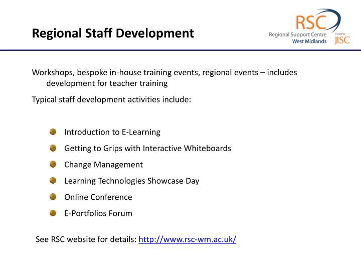 Regional Staff Development