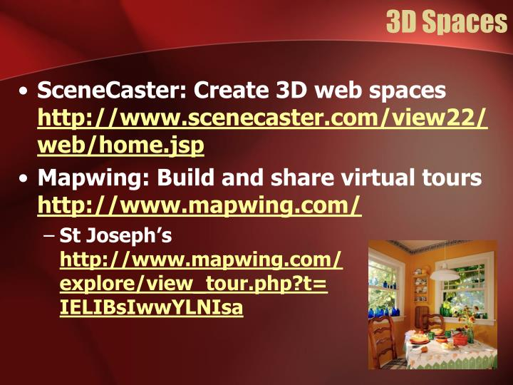 3D Spaces