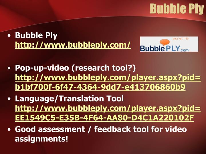 Bubble Ply