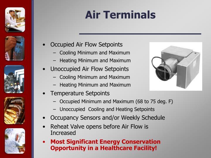 Occupied Air Flow Setpoints