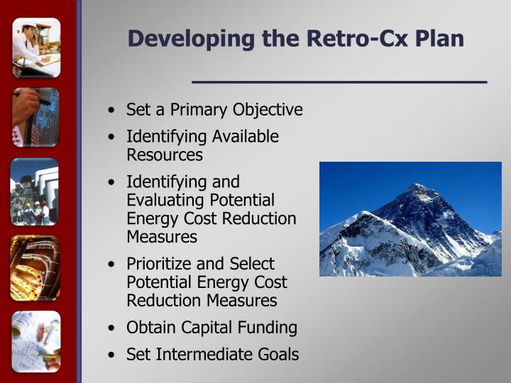 Developing the Retro-Cx Plan
