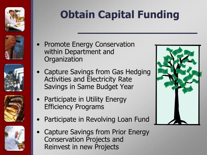 Obtain Capital Funding