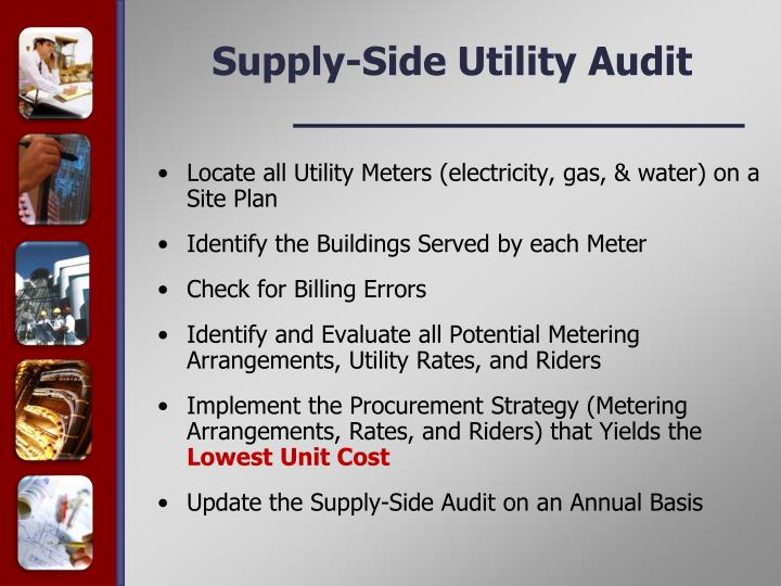 Supply-Side Utility Audit