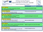 lifelong learning program typical examples of comments received french contributors to survey