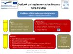 outlook on implementation process step by step